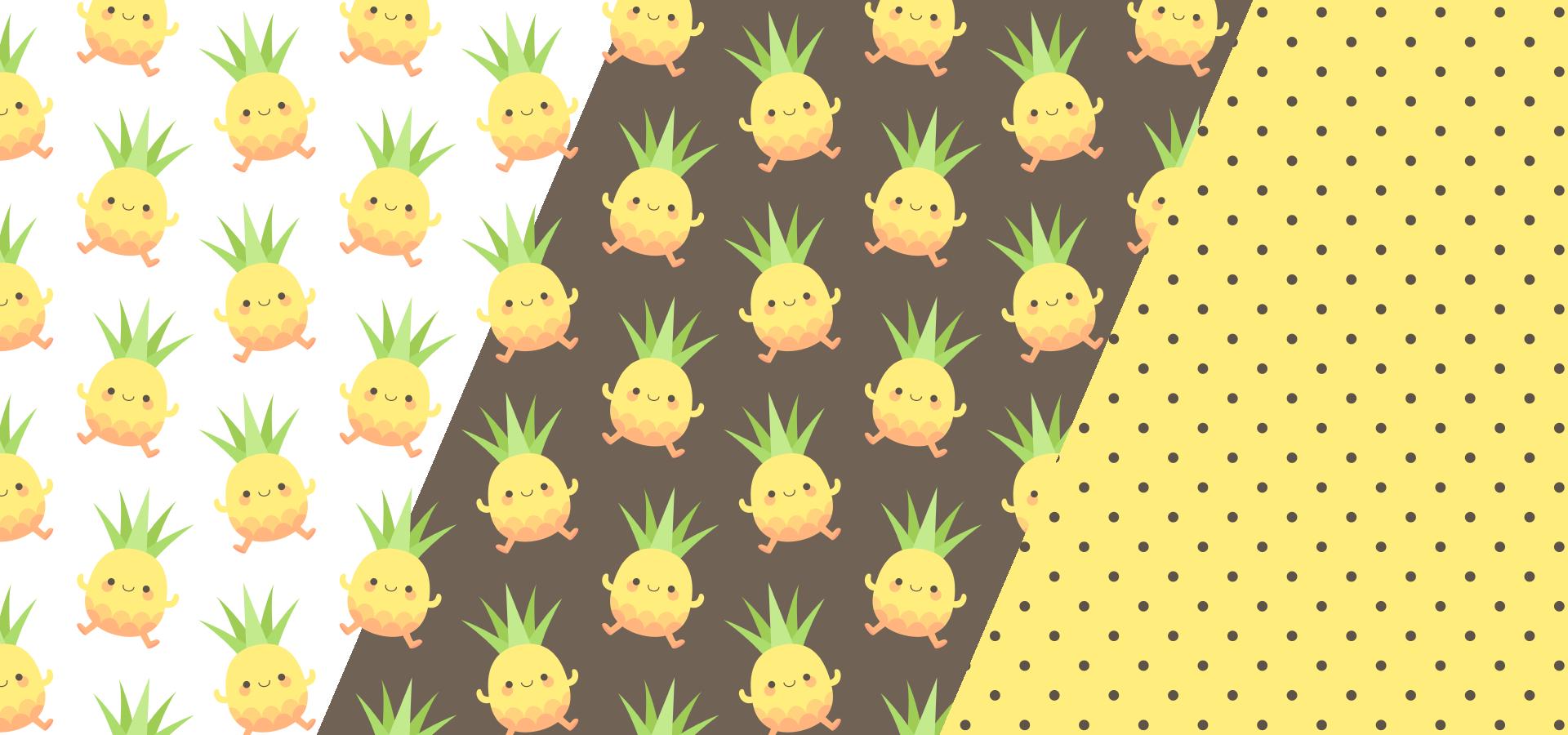 Collection de motifs Danse des petits ananas