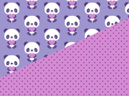 Purple baby pandas