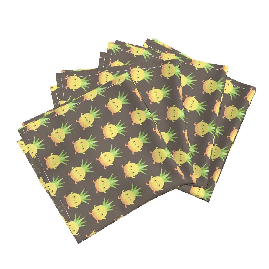 Tea Towels Pillow Talk: Happy Pineapple Kids