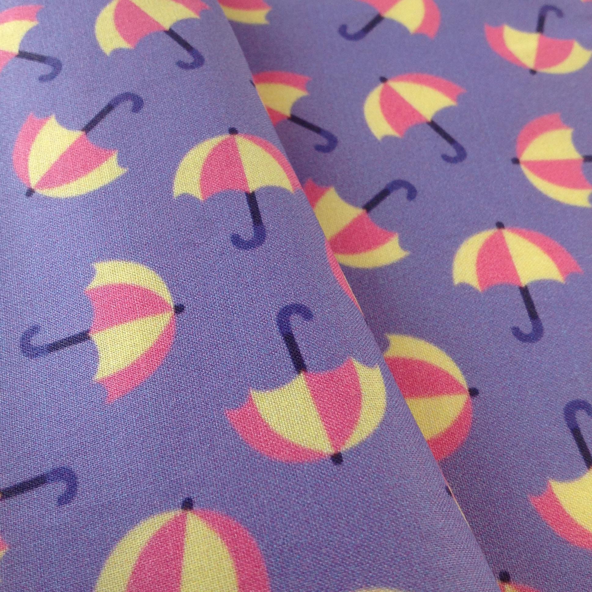 Raining umbrellas fabric